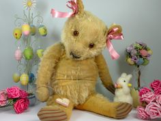 Rosebud - a 1930's Chad Valley magna bear www.onceuponatimebears.co.uk