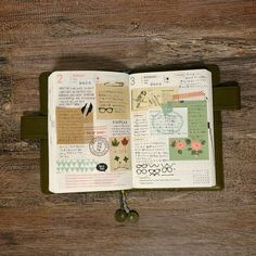 Beige and Green style.@Anja Mrevlje | Free #ほぼ日手帳 #hobonichi #journal