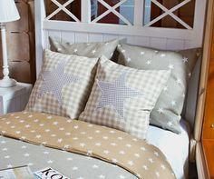 Beige stars cushions* Beigenväriset tähti koristetyynyt