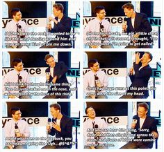 Tom got nailed by Chris in a scene lol