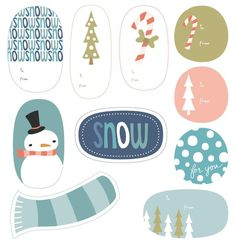 Free printable holiday tags