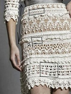 Graficos y Crochet, crochet skirt charts, diagrams and graphs
