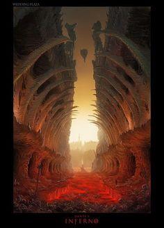 As incríveis ilustrações e artes conceituais de Hugo Martin - Cenários e ambientes - Dante's Inferno (game)
