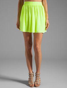 #Revolve Clothing         #Skirt                    #Monrow #Crepe #Short #Skirt #Neon #Citron          Monrow Crepe Short Skirt in Neon Citron                                       http://www.seapai.com/product.aspx?PID=529384