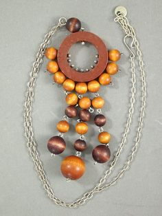 Tradera ᐈ Köp & sälj begagnat & second hand Kulor, Retro Vintage, Wooden Jewelry, Washer Necklace, Design
