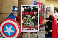 At the Baltimore Comic-Con this past weekend, the British Embassy in Washington celebrated what is GREAT about the comic book, science-fiction and creative industries throughout the UK.  The UK has the largest creative sector per head in the world, and British artists have excelled in the areas of music, literature, computer games, fine art and film.