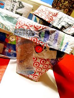 Art to the Extreme by Nicole: My Newest Crafting Project!    Fused Plastic Bags DIY! Great Blog!