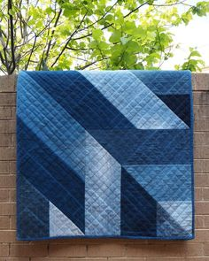 Blue Giant denim quilt pattern from upcycled jeans | Craftsy