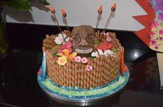 Hawaiian Summer Tiki Birthday Cake Lovely!