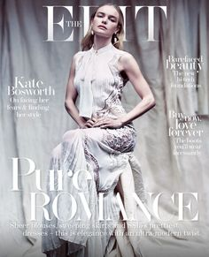 It's PURE ROMANCE with Kate Bosworth looking fabulous in a white #RobertoCavalliSS15 total look on the cover of Net A Porter's The Edit Magazine!