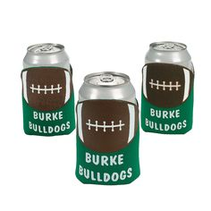 Football Personalized Can Covers - $20.99 Per Dozen PERSONALIZE IT!