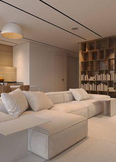 Condo Living Room, Living Room Interior, Home Decor Bedroom, Home Interior Design, Home And Living, Interior Architecture, Living Room Decor, Sala Grande, Contemporary Apartment