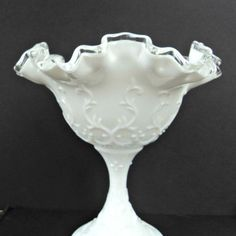 Antique Fenton Art Glass | Vintage Fenton Art Glass Silver Crest by CricketLaneDesigns