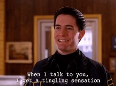 season 2 twin peaks showtime episode 19 flirting dale cooper kyle maclachlan when i talk to you i get a tingling sensation