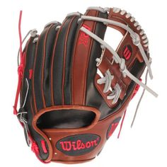 "Dustin Pedroia Boston Red Sox Wilson A2K Game Model 11.5"" Infield Baseball Glove - Black/Brown - $359.99"