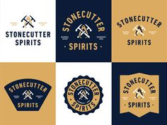 Stonecutter Spirits Branding by Two Arms Inc.