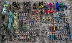 Gear collection of @adventurethrulens #climbing #rockclimbing #climbinggear #tradisrad #tradgear #gearstoke #weighmyrack #blackdiamond #evolv #dmm