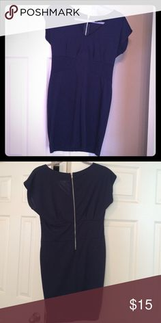 One Clothing Navy Blue and Magenta Dresses Navy Blue and Magenta Women's Dress. Stretchy. Medium. Very flattering on. Rests several inches above the knee. one clothing Dresses