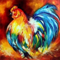 free images of roosters to paint on burlap | Daily Paintings ~ Fine Art Originals by Marcia Baldwin