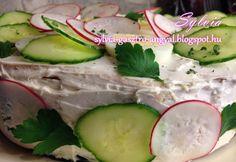 Ünnepi szendvicstorta Fresh Rolls, Cucumber, Vegetables, Ethnic Recipes, Food, Essen, Vegetable Recipes, Meals, Yemek