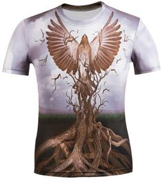 GET $50 NOW | Join RoseGal: Get YOUR $50 NOW!http://www.rosegal.com/mens-t-shirts/3d-eagle-and-bole-printed-454577.html?seid=7640221rg454577