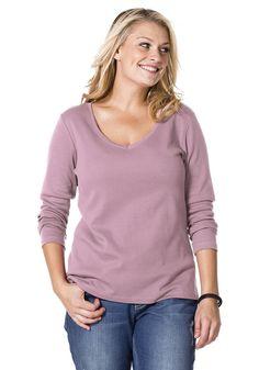 Typ , Shirt, |Material , Baumwolle, |Materialzusammensetzung , 100% Baumwolle, |Ausschnitt , V-Ausschnitt, |Gesamtlänge , Größenenagepasste Länge von ca. 66cm bis 76cm, |Ärmellänge , Langarm, | ...