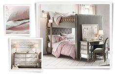 Leuke meidenkamer in de combinatie grijs en roze!