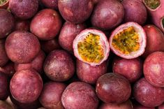 Here's how to grow passionfruit vines in your own backyard plus essential tips for vine care including planting, watering, fertilising, pruning and propagating. Passionfruit Vine, Passionfruit Recipes, Organic Gardening, Gardening Tips, Passion Fruit Plant, Agriculture Photos, Pineapple Planting, Fruits Photos, Tropical Fruits
