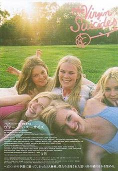 """Lux lost it over Kevin Haynes, the garbageman. She'd wake up at 5 in the morning and lay about on the front porch like it wasn't completely obvious! She wrote his name in marker in all her bras and underwear and mom found them and bleached out all the Kevins. Lux has been crying on her bed all day."" - The Virgin Suicides"