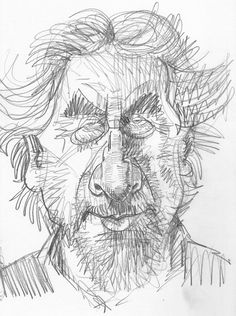 HOW DID I come to draw this pencil sketch of Howard Jacobson? While the TV is on in the evenings, I am invariably scribbling in a sketchbook, particularly when the programme on show is on more for other family members rather than me.