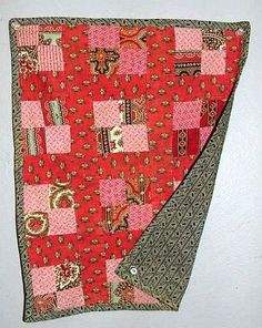 Antique doll quilt, 4 patch variation - late 1800's to early 1900's.