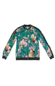 Jaqueta bomber feminina adulto Estampa floral