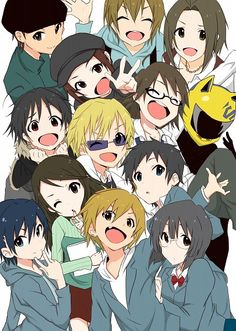 The adorable chibis of Durarara!  Man, this show has the best cast(and dub) ever.