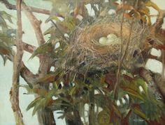A Nest, Meredith Brooks Abbott (1938); 2014; Oil on canvas