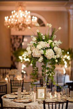 Tall White Wedding Centerpiece - Elizabeth Anne Designs: The Wedding Blog by joanna