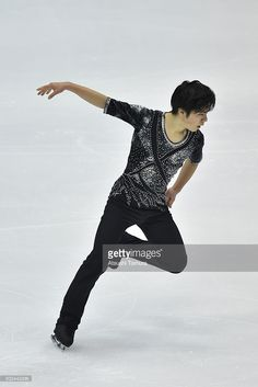 Shoma Uno of Japan competes in the Men short program during the day one of the 2015 Japan Figure Skating Championships at the Makomanai Ice Arena on December 25, 2015 in Sapporo, Japan.