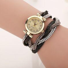 Dámské náramkové hodinky s kamínky – BÍLÉ Na tento produkt se vztahuje  nejen zajímavá sleva 8d481370a0
