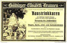 Original-Werbung/ Anzeige 1918 - HAUSTRINKKUREN / HOMBURGER ELISABETH- BRUNNEN - ca. 180 x 110 mm