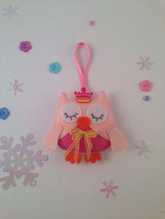 Owl ornaments-Felt ornaments-Owl decor-Hanging ornaments-Christmas ornaments owl-Christmas ornaments felt-Pink owl-Christmas felt ornaments by SnowFelts on Etsy https://www.etsy.com/listing/485047352/owl-ornaments-felt-ornaments-owl-decor
