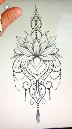 Mandala design tattoo - Would love this as a temp on my ster.- Mandala design tattoo – Would love this as a temp on my sternum Mandala design tattoo – Would love this as a temp on my sternum – Today Pin - Mandala Tattoo Design, Thigh Tattoo Designs, Flower Tattoo Designs, Tattoo Flowers, Lotus Mandala Tattoo, Lotus Flower Tattoos, Henna Designs, Lotus Flowers, Drawing Flowers