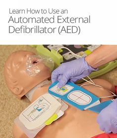 How to Use an AED (Automated External Defibrillator) Automated External Defibrillator, Basic Life Support, Creative Inventions, Medical School, Survival Tips, Being Used, Studying, Trauma, Health Fitness