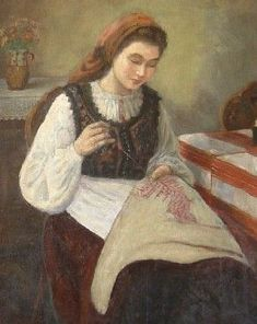 @@@@@@@@@@@ Woman doing needlework | mujeres bordando | Pinterest www.pinterest.com291 × 366Buscar por imagen Woman doing needlework | mujeres bordando | Pinterest
