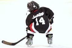 adorable little hockey player