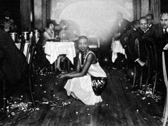Josephine Baker (1906-75) at Her Bar in Paris, Surrounded by Admirers. Photographic print from Art.com. #1920s #paris