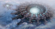 Космическая фантастика (Space Fantasy) | Trouble Between Clouds by Leon Tukker