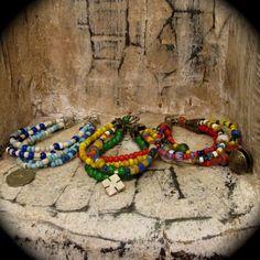 """Bohemian Quartet Bracelet"", multi-strand bracelet found at Lotus Beads and Jewelry"