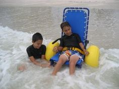 FUN AT THE BEACH NO PROBLEM FOR 10-YEAR OLD BOY WITH CEREBRAL PALSY