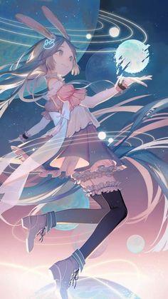 Tsuki no usagi Anime Art Girl, Manga Art, Anime Girls, Pretty Art, Cute Art, Persona Anime, Japon Illustration, Image Manga, Poses References