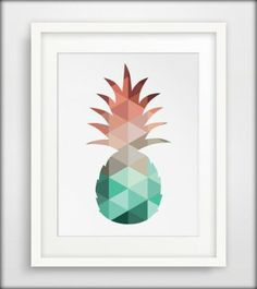 Pineapple Print Mint and Coral Pineapple Art Summer Art Reproductions Murales, Images D'art, Pineapple Art, Pineapple Pattern, Decoration Entree, Coral Art, Kunst Poster, Decorating With Pictures, Decoration Pictures