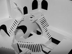 Imprimible para cortar, doblar y armar la litografía de Escher